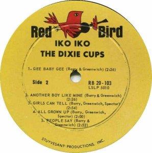 DIXIE CUPS 1965 D