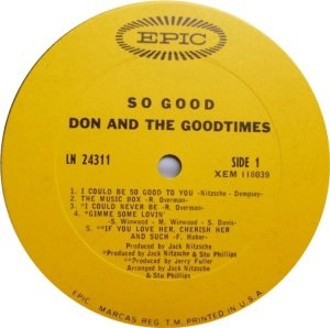 DON GOODTIMES 1967 C