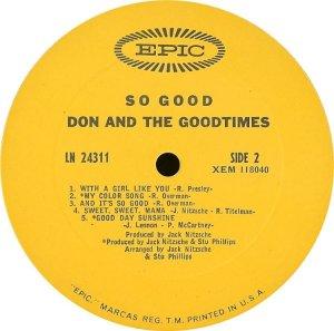 DON GOODTIMES 1967 D