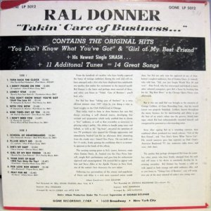 DONNER RAL - 1961 B