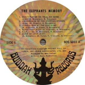 ELEPHANTS MEMORY 1969 C