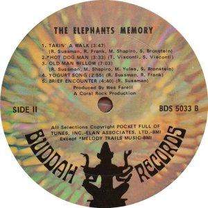 ELEPHANTS MEMORY 1969 D