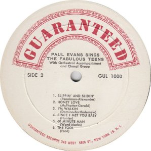 EVANS PAUL 1960 D