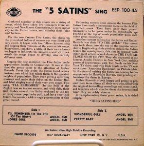 FIVE SATINS 1957 B