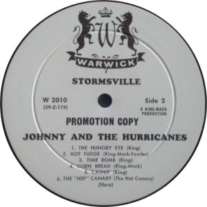 JOHNNY & HURRICANES 1960 D