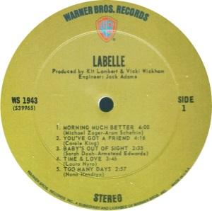 LABELLE 1971 C