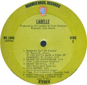 LABELLE 1971 D
