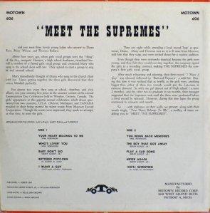 SUPREMES 1962 B