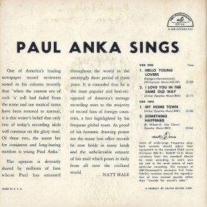 ANKA PAUL 1961 B