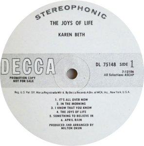 BETH KAREN 1969 C