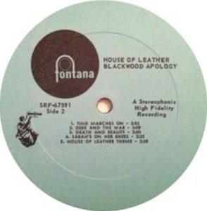 BLACKWOOD APOLOGY 1969 D
