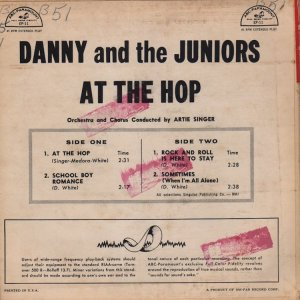 DANNY & JUNIORS 1958 01 B