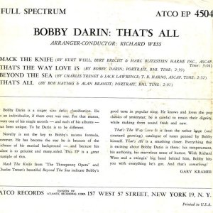DARIN BOBBY 1959 01 B