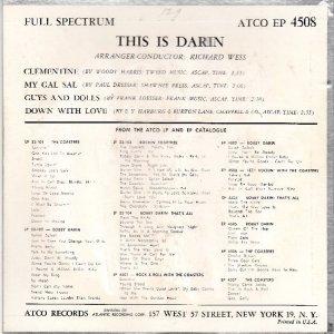 DARIN BOBBY 1960 01 B