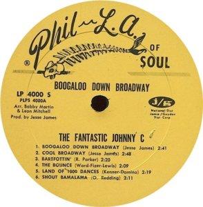 FANTASTIC JOHNNY C 1968 C