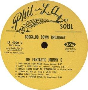 FANTASTIC JOHNNY C 1968 D