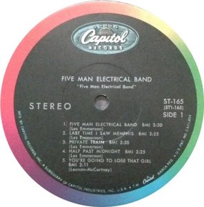 FIVE MAN ELECTRICAL BAND 1969 C