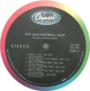 FIVE MAN ELECTRICAL BAND 1969 D