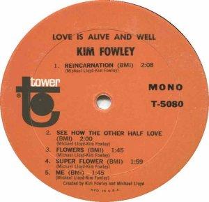 FOWLEY KIM 1967 D