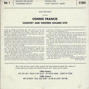 FRANCIS CONNIE 1959 15 B