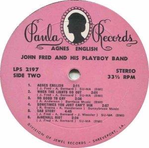 FRED JOHN 1969 D