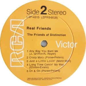 FRIENDS OF DISTINCTION 1970 D