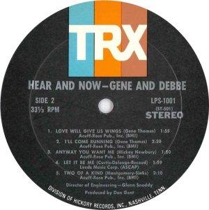 GENE & DEBBIE 1968 D