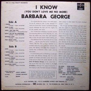 GEORGE BARBARA 1961 B