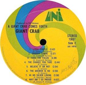 GIANT CRAB 1968 C