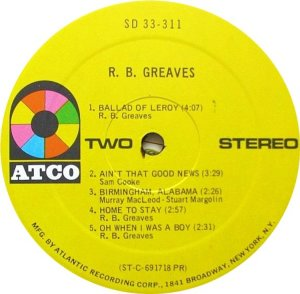 GREAVES RB 1969 D