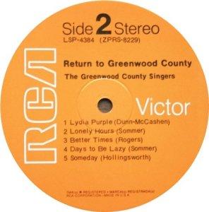 GREENWOOD COUNTY SINGERS 1970 C