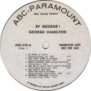 HAMILTON GEORGE 1965 C