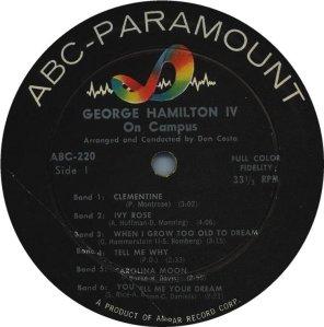 HAMILTON IV GEORGE - 1957 C