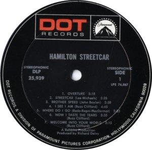 HAMILTON STREETCAR 1969 C