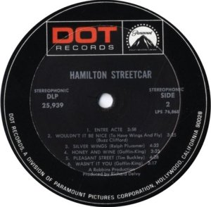 HAMILTON STREETCAR 1969 D