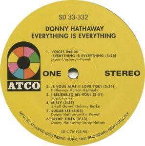 HATHAWAY DONNY 1970 C