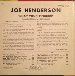 HENDERSON JOE 1962 B