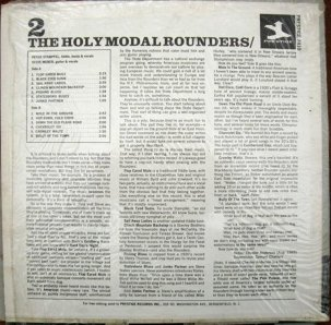 HOLY MODAL ROUNDERS 1965 B