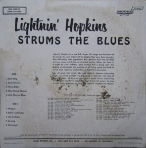 HOPKINS LIGHTNIN 1959 B