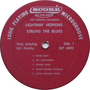 HOPKINS LIGHTNIN 1959 C