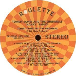 JAMES TOMMY SHONDELLS 1966 C