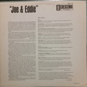 JOE AND EDDIE 1963 B