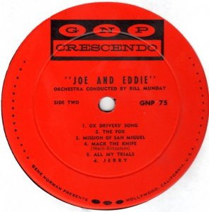 JOE AND EDDIE 1963 D