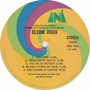 JOHN ELTON 1970 C