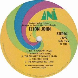 JOHN ELTON 1970 D