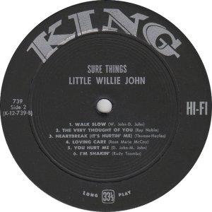 JOHN LITTLE WILLIE 1961 C
