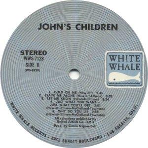 JOHN'S CHILDREN 1970 D