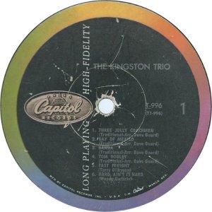 KINGSTON TRIO 1958 C