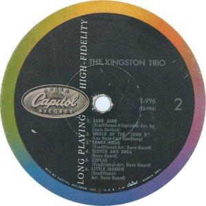 KINGSTON TRIO 1958 D