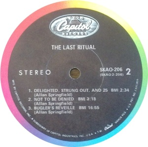 LAST RITUAL 1969 D